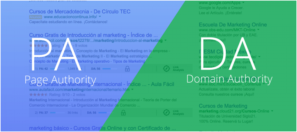 Page Authority en Domain Authority